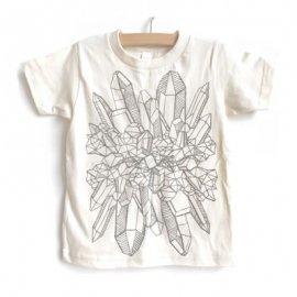 【キッズ】半袖Tシャツ「CRYSTAL」オーガニックコットン(親子おそろい服)