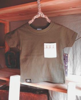 スウェーデン刺繍キッズ&ベビーTシャツ【100cm(3~4歳)】『チョコレートブラウン×刺繍』【Tシャツ、半袖】キッズ夏メイドインジャ…