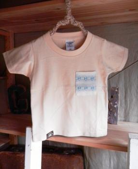 スウェーデン刺繍キッズTシャツ【100cm(3~4歳)】『ナチュラル×刺繍』【Tシャツ、半袖】キッズ夏メイドインジャ…