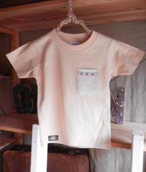スウェーデン刺繍キッズTシャツ【110cm(4~5歳)】『ナチュラル×刺繍』【Tシャツ、半袖】キッズ夏メイドインジャ…