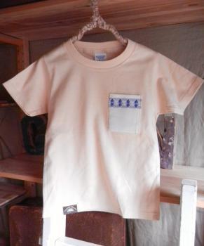 スウェーデン刺繍キッズTシャツ【120cm(5~6歳)】『ナチュラル×刺繍』【Tシャツ、半袖】キッズ夏メイドインジャ…