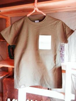 スウェーデン刺繍キッズTシャツ【 140cm(7~8歳)】『チョコレートブラウン×刺繍』【Tシャツ、半袖】キッズ夏メイドインジャ…