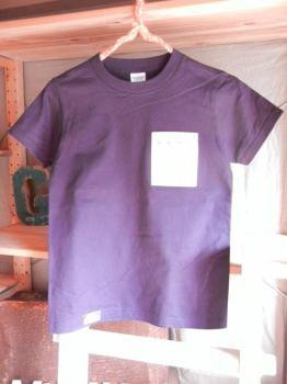 スウェーデン刺繍キッズTシャツ【 140cm(7~8歳)】『パープル×刺繍』【Tシャツ、半袖】キッズ夏メイドインジャ…