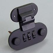536 小判型ダイヤル錠前OCS黒塗装