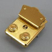 590 二つ丸一段錠金色