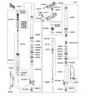 フロントフォーク KX250F 2012(KX250ZDF) - Kawasaki純正部品