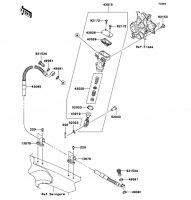 リヤマスタシリンダ KX250F 2012(KX250ZDF) - Kawasaki純正部品