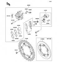 フロントブレーキ KX250F 2012(KX250ZDF) - Kawasaki純正部品