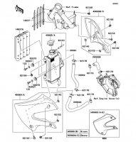 ラジエータ KX65 2010(KX65AAF) - Kawasaki純正部品