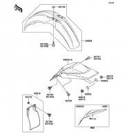 フェンダ KX65 2011(KX65ABF) - Kawasaki純正部品