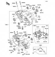 クランクケース KX65 2011(KX65ABF) - Kawasaki純正部品