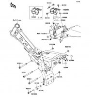 エンジンマウント KLX110L 2010(KLX110DAF) - Kawasaki純正部品