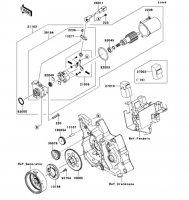 スタータモータ KLX110L 2010(KLX110DAF) - Kawasaki純正部品