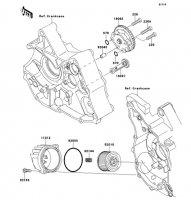 オイルポンプ KLX110L 2010(KLX110DAF) - Kawasaki純正部品
