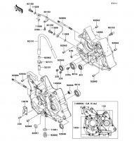 クランクケース KLX110L 2010(KLX110DAF) - Kawasaki純正部品