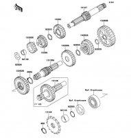 トランスミッション KLX110L 2010(KLX110DAF) - Kawasaki純正部品