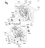 クランクケース KLX125 2013(KLX125CDF) - Kawasaki純正部品