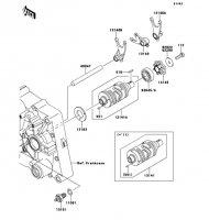 ギヤチェンジドラム/シフトフォーク KLX125 2013(KLX125CDF) - Kawasaki純正部品
