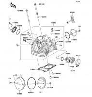 シリンダヘッド KLX125 2013(KLX125CDF) - Kawasaki純正部品