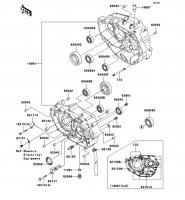 クランクケース KLX250 2012(KLX250SCF) - Kawasaki純正部品