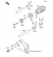 ギヤチェンジドラム/シフトフォーク KLX250 2012(KLX250SCF) - Kawasaki純正部品