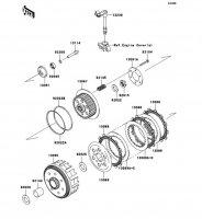 クラッチ KLX250 2012(KLX250SCF) - Kawasaki純正部品