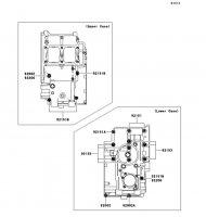 クランクケースボルトパターン Ninja 250R 2011(EX250KBF) - Kawasaki純正部品
