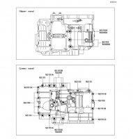 クランクケースボルトパターン Ninja 400R 2011(EX400CBF) - Kawasaki純正部品