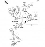 ギヤチェンジメカニズム Ninja 400R ABS 2012(EX400DCF) - Kawasaki純正部品