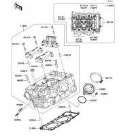 シリンダヘッド Ninja 400R ABS 2012(EX400DCF) - Kawasaki純正部品