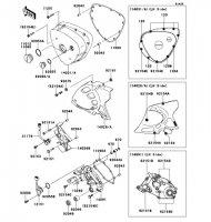 レフト エンジンカバー W800 2012(EJ800ACF) - Kawasaki純正部品