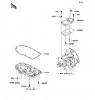 ブリーザカバー/オイルパン W800 2012(EJ800ACF) - Kawasaki純正部品