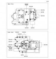 クランクケースボルトパターン W800 2012(EJ800ACF) - Kawasaki純正部品