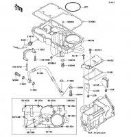 ブリーザカバー/オイルパン ZRX1200 DAEG 2012(ZR1200DCF) - Kawasaki純正部品