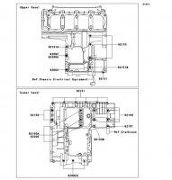 クランクケースボルトパターン ZRX1200 DAEG 2012(ZR1200DCF) - Kawasaki純正部品