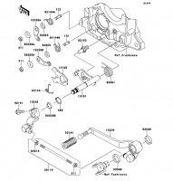 ギヤチェンジメカニズム ZRX1200 DAEG 2012(ZR1200DCF) - Kawasaki純正部品
