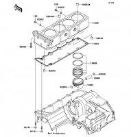シリンダ/ピストン ZRX1200 DAEG 2012(ZR1200DCF) - Kawasaki純正部品