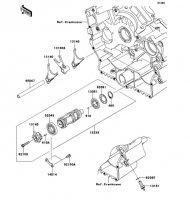 ギヤチェンジドラム/シフトフォーク VULCAN 900 CLASSIC 2013(VN900BDFA) - Kawasaki純正部品