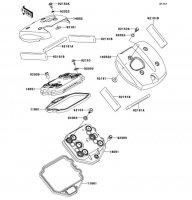 シリンダヘッドカバー VULCAN 900 CLASSIC 2013(VN900BDFA) - Kawasaki純正部品