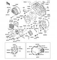 エンジンカバー ZRX1100 1998(ZR1100-C2) - Kawasaki純正部品