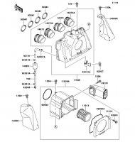 エアクリーナ ZRX1100 1998(ZR1100-C2) - Kawasaki純正部品