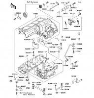 クランクケース ZRX1100 1997(ZR1100-C1) - Kawasaki純正部品