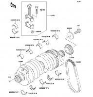 クランクシャフト ZRX1100 1997(ZR1100-C1) - Kawasaki純正部品