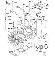 シリンダヘッド ZRX1100 1997(ZR1100-C1) - Kawasaki純正部品