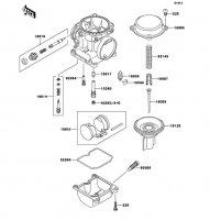 キャブレタパーツ ZRX1100-� 1997(ZR1100-D1) - Kawasaki純正部品