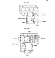 クランクケースボルトパターン ZRX1100-� 1997(ZR1100-D1) - Kawasaki純正部品