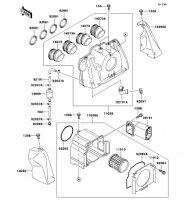エアクリーナ ZRX1100-� 1997(ZR1100-D1) - Kawasaki純正部品