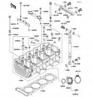 シリンダヘッド ZRX1100-� 1997(ZR1100-D1) - Kawasaki純正部品