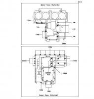 クランクケースボルトパターン ZEPHYR 1100 2006(ZR1100A6F) - Kawasaki純正部品