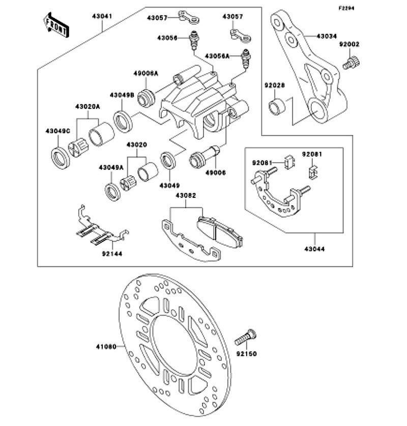 ZEPHYR 1100 1992(ZR1100-A1) 純正リヤブレーキ / ZEPHYR 1100